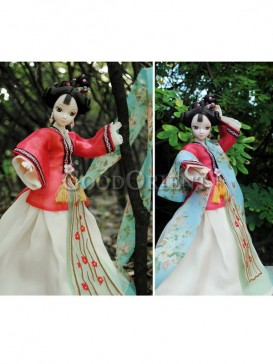 China style dolls of fairy of plum blossom