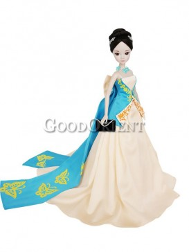 China style dolls of paper cutting butterfly