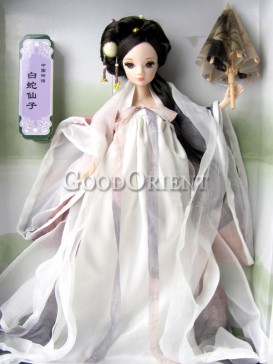 China style dolls of lady white snake