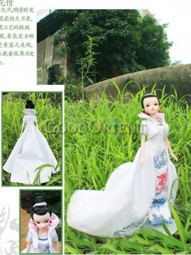 China style dolls of boue and white dragon