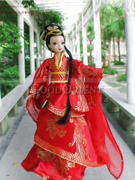 China style dolls of Chinese bride of Han dynasty