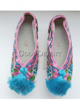 Insightful Chinese flower pot shoe of Qing Dynasty
