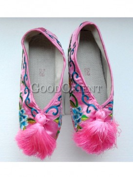 Profound Chinese flower pot shoe of Qing Dynasty
