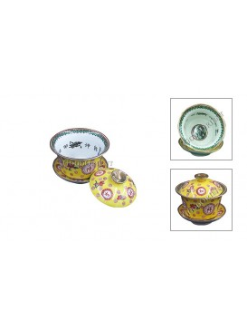 Famille Rose Tea Bowl---Bright Yellow
