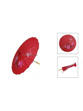 Chinese Handmade Silk Umbrella---Red