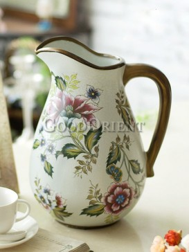 European style vase with Hand painted flower pattern