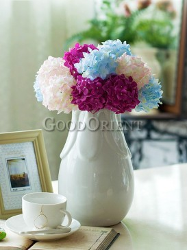 White porcelain vase of home decoration