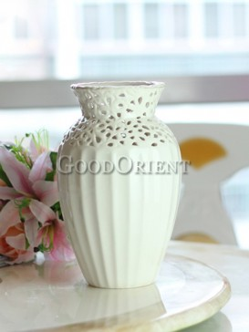 Home decor white porcelain vase of European style