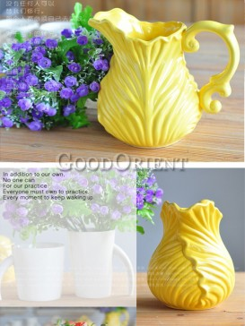 Yellow Chinese Ceramic European Style Vase