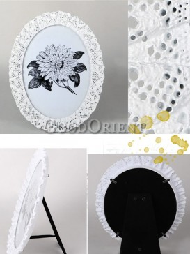 European stye Picture frame with white lace design