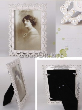 European Style Pearl Design Rectangle Picture Frame