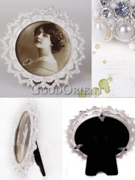 European Style Pearl Design Round Picture Frame