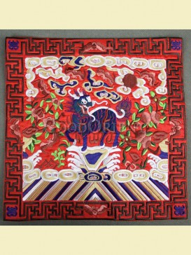 Colourful embroidery mouse pad--Kelin pattern