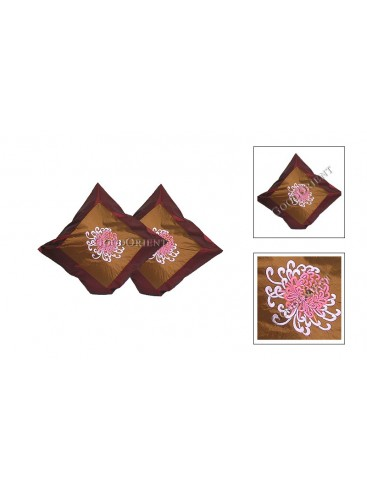 Embroidery Chrysanthemum Cushion Cover