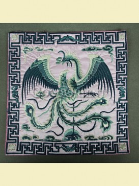 Classic embroidery of mouse pad-Phoenix design
