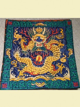 Intricate embroidered mouse pad--Dragon pattern