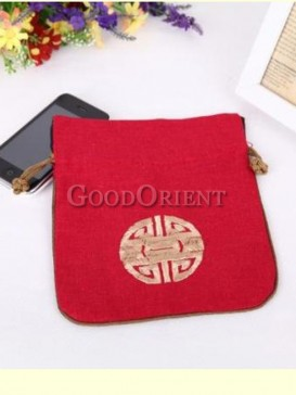 Classical Chinese red coin bag