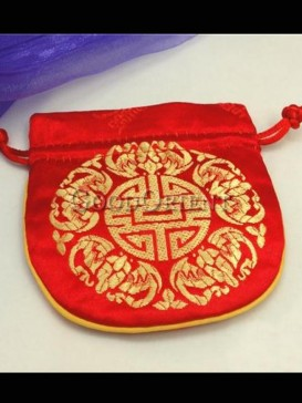 Embroidered flowers of coin bag