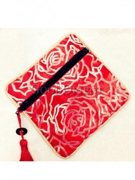 Rose pattern style coin bag
