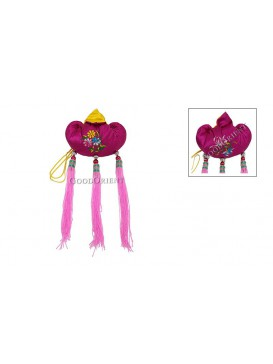 Embroidered Floral Sachet Hanging