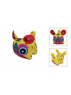 Chinese Tiger Patchwork Toy---Yellow