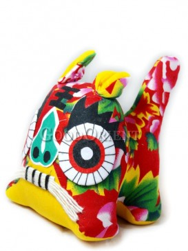 Chinese Tiger Patchwork Toy---Pink