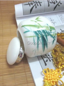 Magnificent bamboo pattern tea caddy