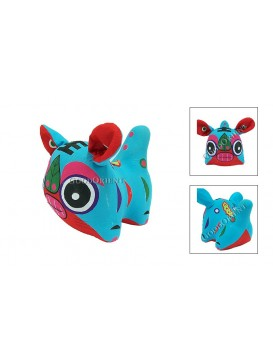 Chinese Tiger Patchwork Toy---Blue
