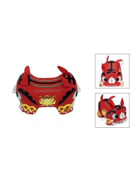 Double Heads Tiger Patchwork Toy---Red