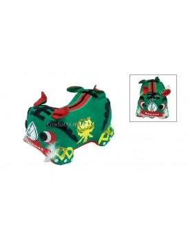 Double Heads Tiger Patchwork Toy---Green