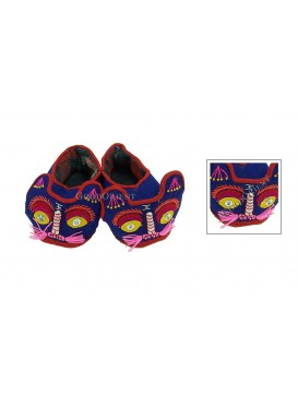 Hard Sole Tiger Shoes---Navy