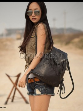 Classical tassel style leather bag