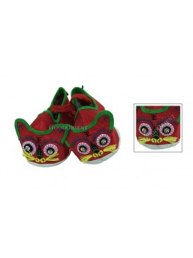 Soft Sole Tiger Shoes---Green Piping