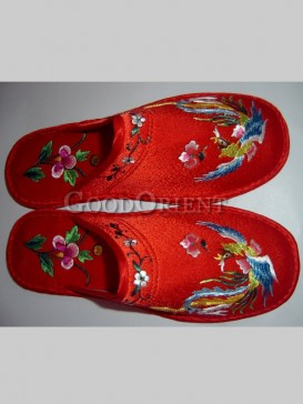 Hand Embroidered Floral Slipper