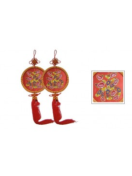 Hand Embroidered Hanging---Double Fortune