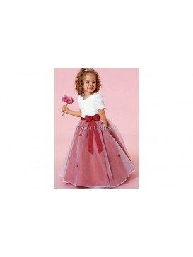 Red Sweety Flower Girl Dress