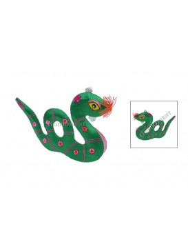 Embroidered Chinese Symbol Animals---Snake