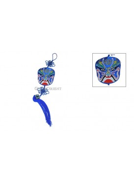 Embroidered Peking Opera Mask Hanging