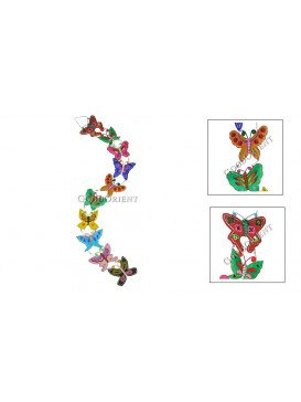 Colorized Embroidered  Hanging---Butterfly