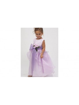 Foggy Lilack Lily Flower Girl Dress
