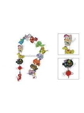 Chinese Twelve Symbol Animals Hanging---Large