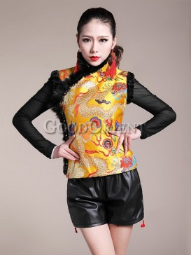 Classical dragon pattern design of vest