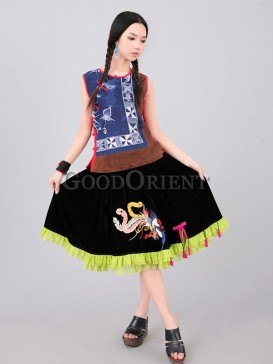 Chiffon skirt with double layer
