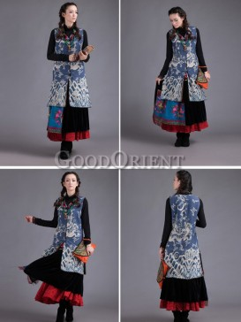 Classical dragon pattern long vest