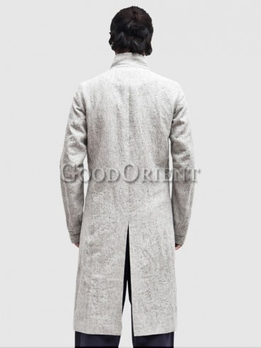 Classical light grey long gown