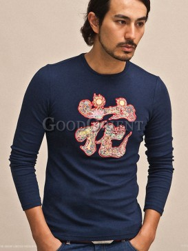 """Classical with """"Hua"""" pattern t-shirt"""