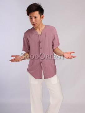 Delicate clipping dark pink shirt