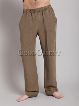 Fashionable khaki tencel pants