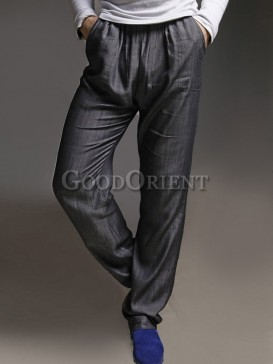 Shinning grey tencel pants