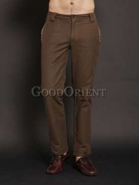 Fantastic dark khaki cotton pants